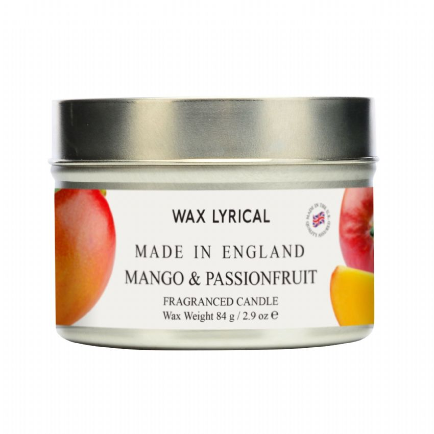 Mango & Passionfruit TIN Made In England Scented Candles Wax Lyrical 16 Hours